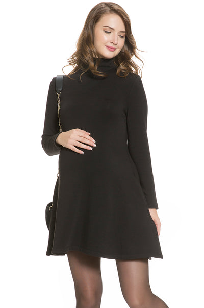 Turtleneck Swing Dress
