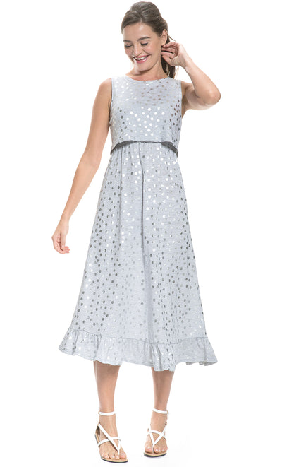 Polka Dot Maternity and Nursing Dress