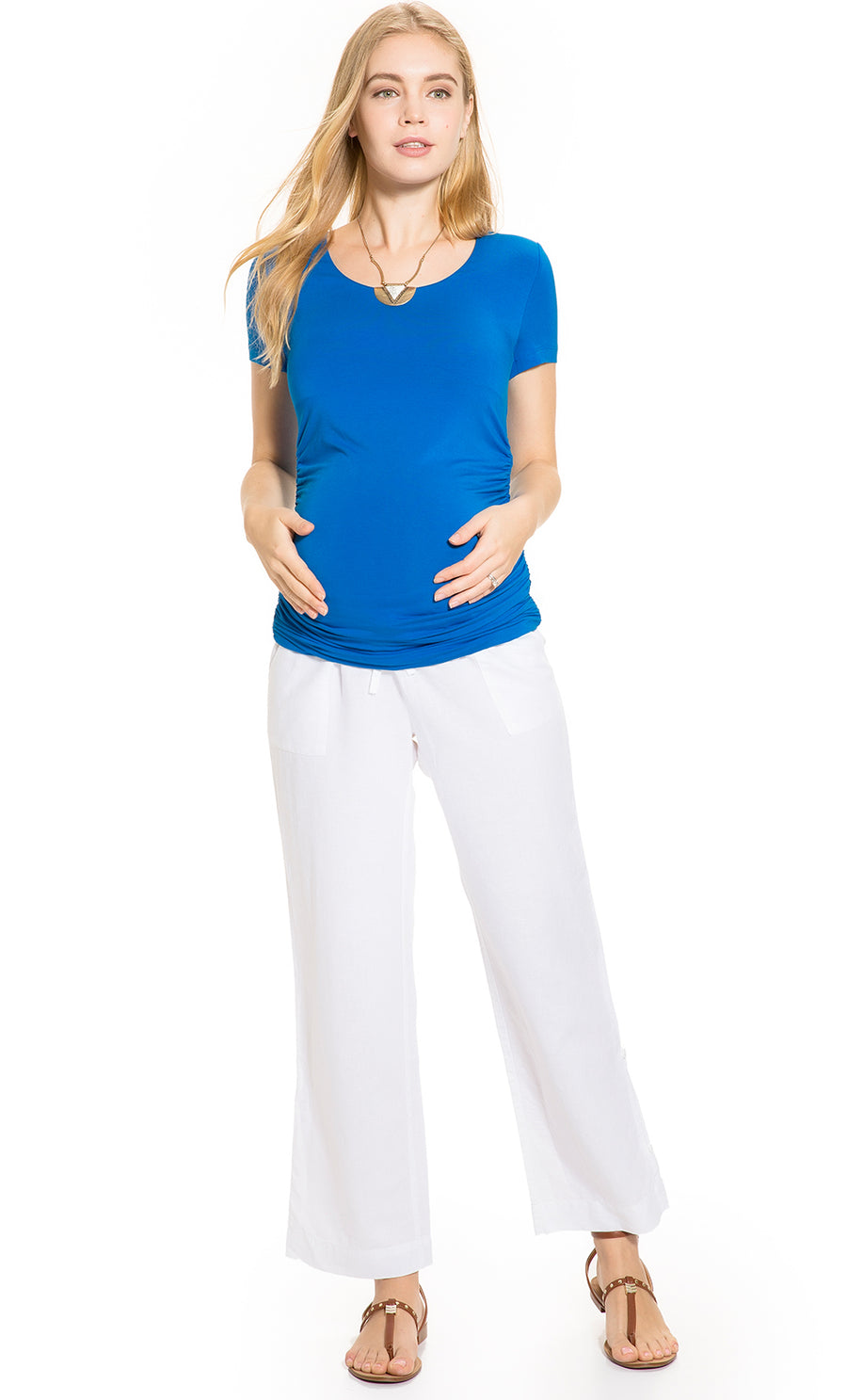 Under Belly Linen Maternity Pants