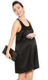 Silk Racerback Maternity Dress