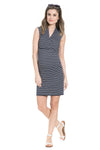 V-Neckline Sleeveless Milos Maternity and Nursing Dress