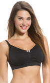 Seamless Padded Maternity Bra in Black
