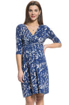 Blue Bird Tie Waist Dress