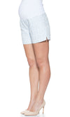 Jacquard maternity short with essential bellyband