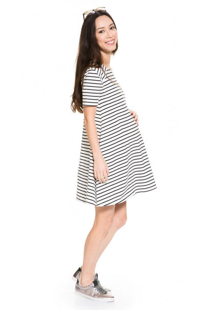 Relaxed-fit pull-on Maternity and Nursing Dress