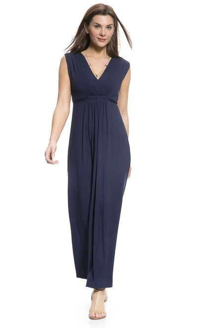 Loose fit, Sleeveless Ischia Nursing and Maternity Maxi