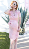 Sarasota V-neck Wrap Maternity and Nursing Dress for Vacation