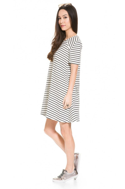 Striped A-line pregnancy Dress
