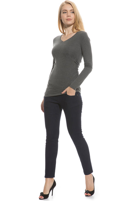 Long Sleeve Ruched Top