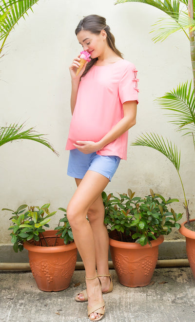 Ruffle Shorts with Essential Bellyband