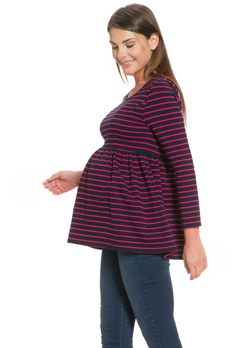 Stripe Empire Waist Maternity & Nursing Top