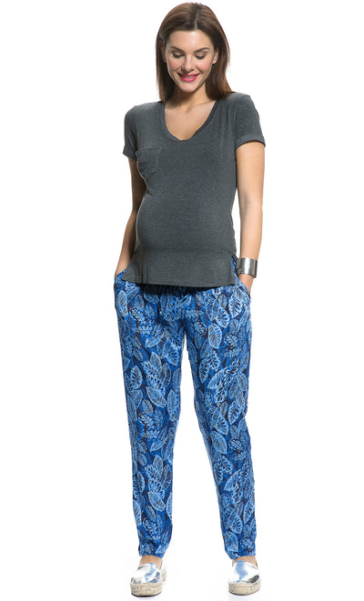 Tropical Leaf Relaxed Pants
