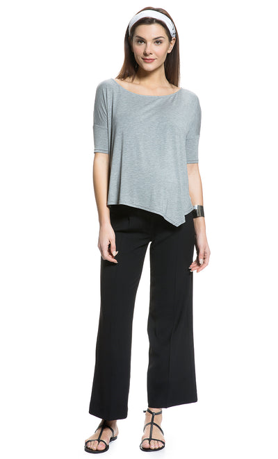 Asymmetrical Hem Maternity Top