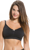 Seamless Padded Maternity and Nursing Bra in Black