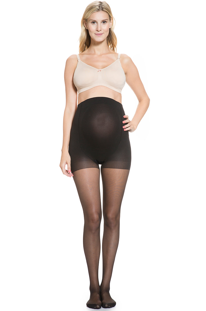 elegant shoes quality design best choice Over Belly Sheer Maternity Stockings