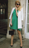 Cape Maternity Dress In Green