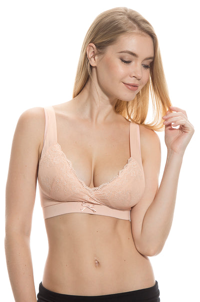 No-wire Lace Push-Up Maternity & Nursing Bra