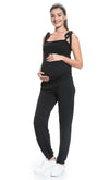 Tie shoulder maternity and Nursing jumpsuit
