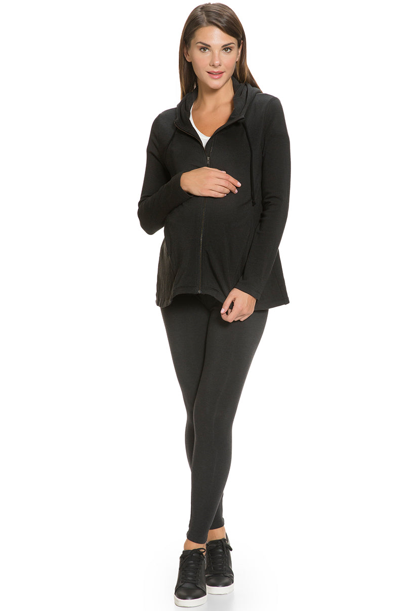 Over Belly Fleece Lined Maternity Legging