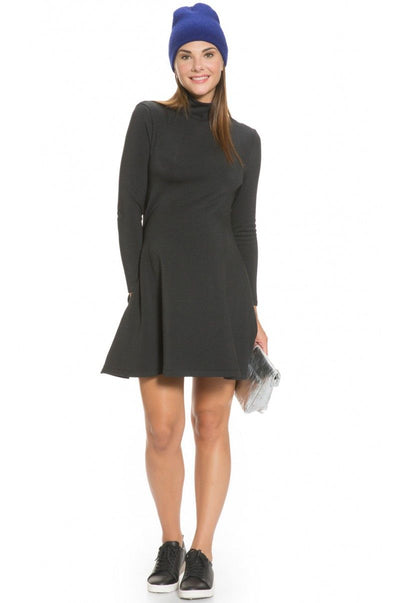 Turtleneck Swing Maternity Dress
