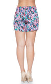 Tropical Firework Maternity Shorts