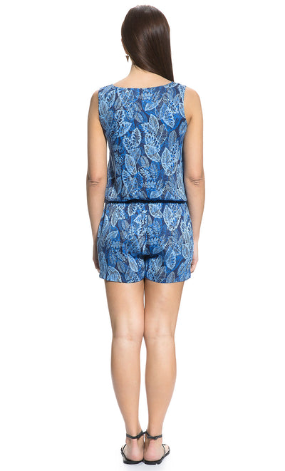 Tropical Leaf Maternity and Nursing Romper
