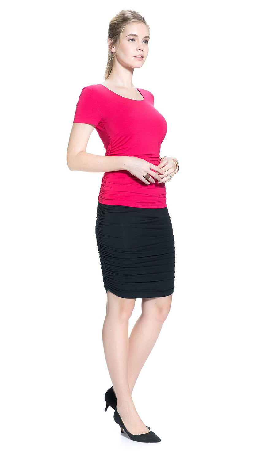 Ruched Skirt in Black