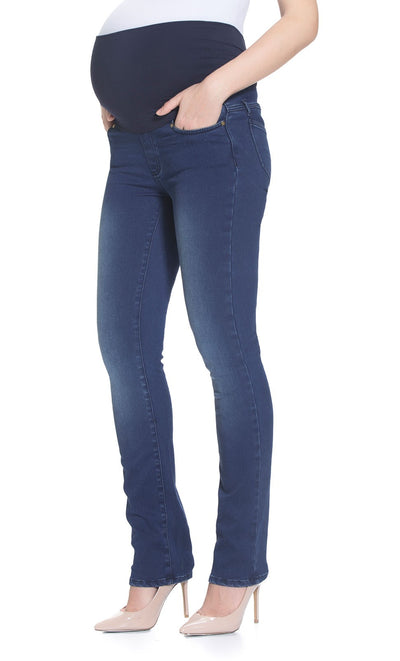 Bamboo Over Belly Straight Maternity Jeans