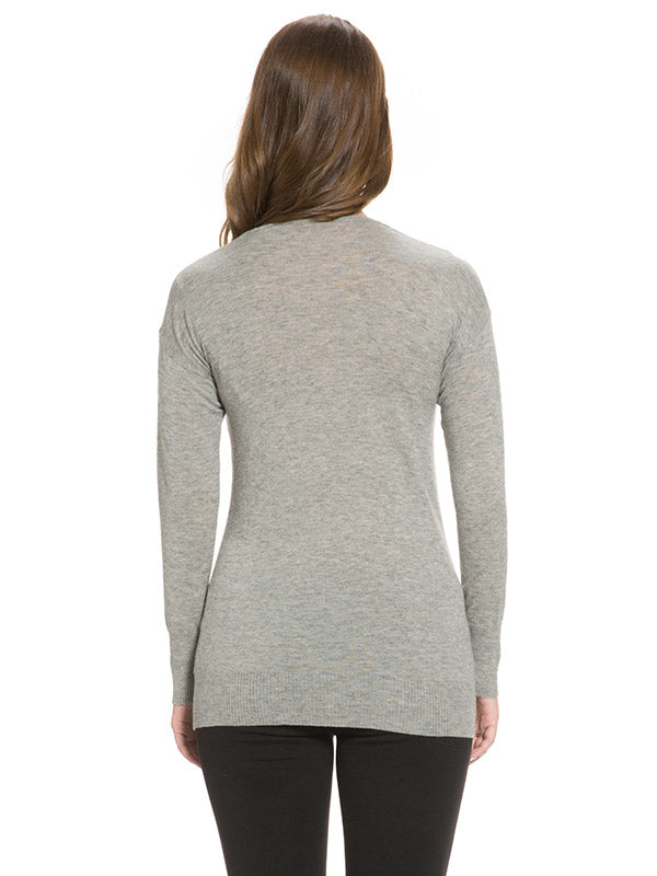 Wool Cashmere Blend Cowl Neck Sweater