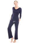 Bamboo Cowl Neck Long Sleeve PJ Set