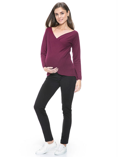 Under The Belly Seamed Maternity Treggings