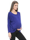Cashmere Blend Oslo Nursing Sweater in Dark Blue Color