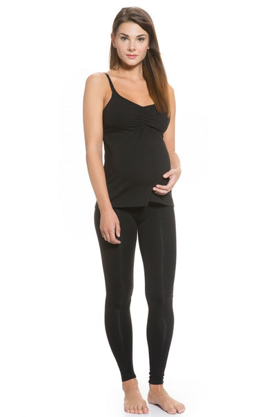 Organic Cotton Built-in Bra Maternity and Nursing Top