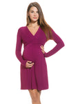 Tie Waist Maternity & Nursing Dress