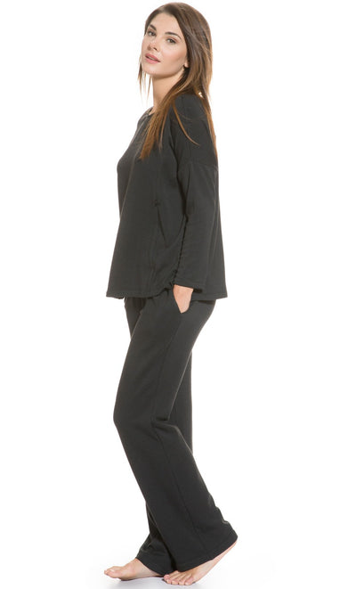 Fleece Lined Maternity and Nursing PJ Set