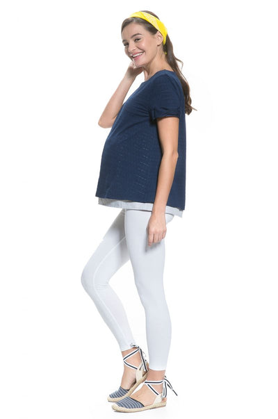 Anti-Radiation Cotton Ribbon Sleeved Top