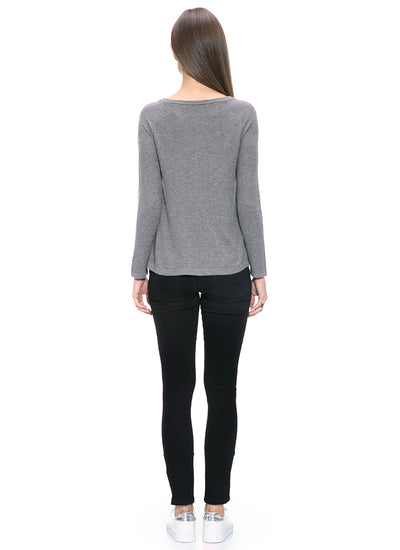 Cashmere Blend Faux Leather Zipped Top