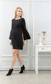 Fluted Sleeve Maternity and Nursing Dress