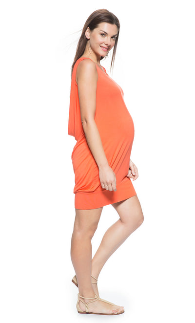 Draped Back Maternity Dress