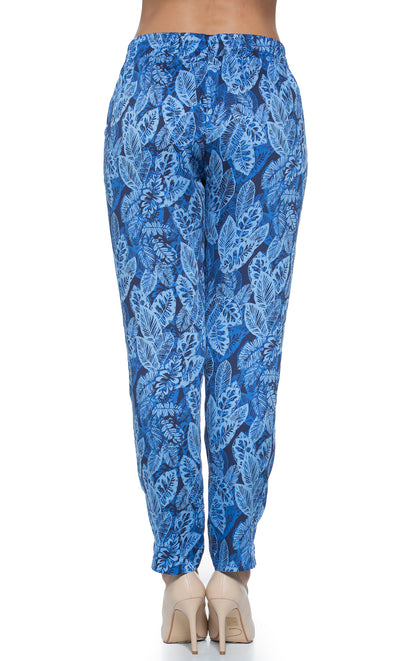 Tropical Leaf Maternity Relaxed Pants