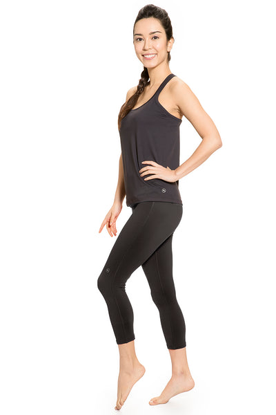 Set of Active Top and Black Over Belly Active Pants