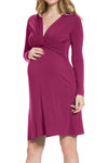Long Sleeve Elba Dress in Plum