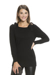 Wool Ribbon Nursing Tunic Sweater