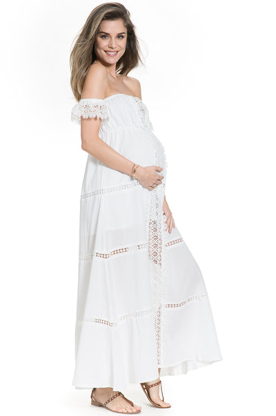 Cold Shoulder maternity dress