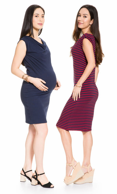Cow Neck Maternity Dress