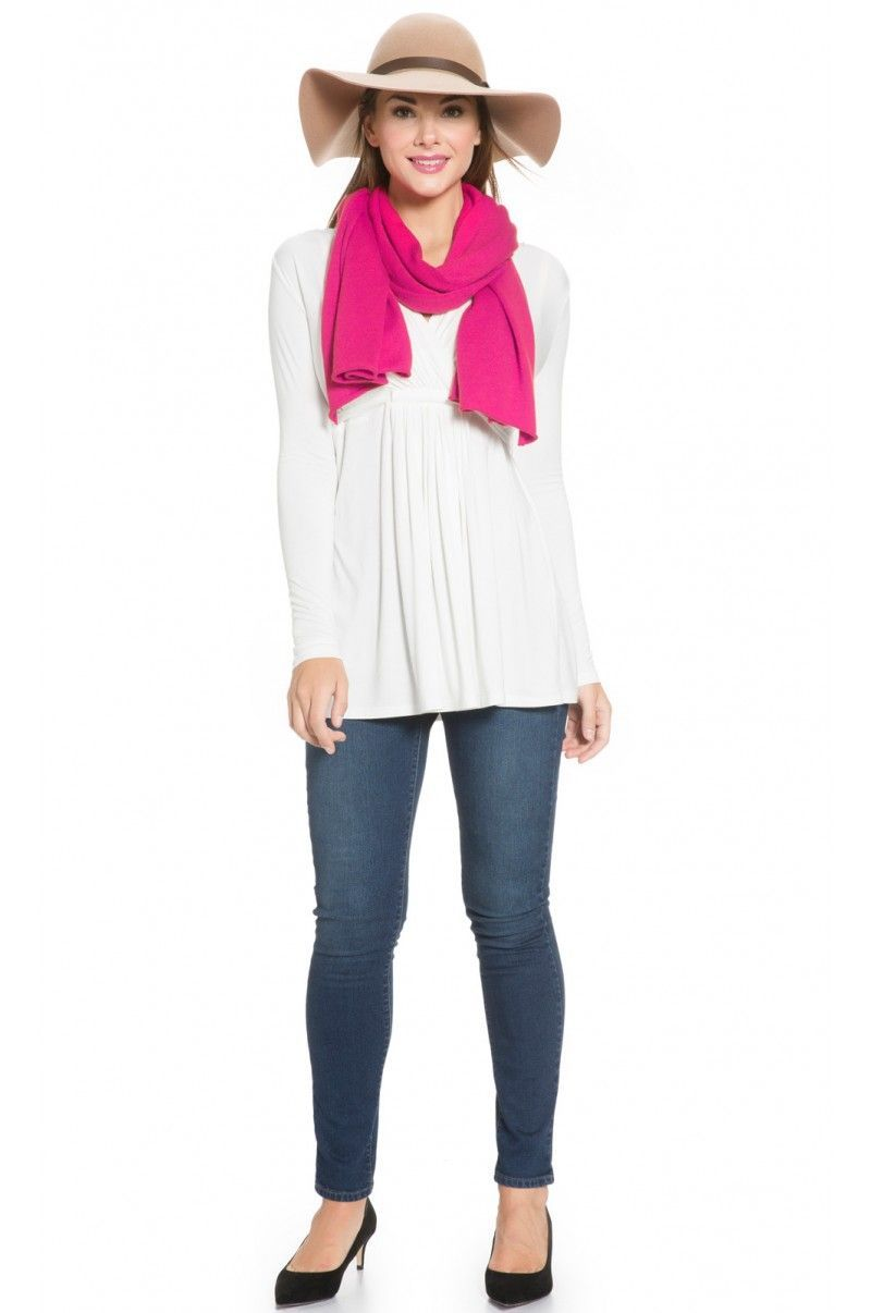 Wool Cashmere Two Way Nursing Scarf