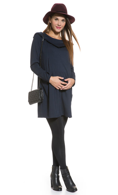 Fringe Shift Maternity Dress