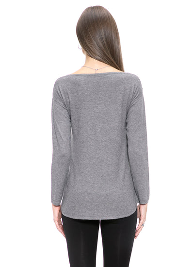 Cashmere Blend Criss Cross Sweater