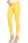 Over Belly Maternity Leggings in Yellow