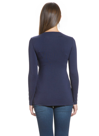 Crossover Nursing Top in Navy